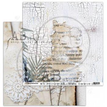 """Rustical journey"" Scrapbooking Paper 12 x 12"" sheet 1 Start your journey"