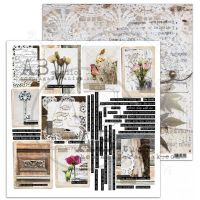 """Rustical journey"" Scrapbooking Paper 12 x 12"" sheet 6 Feel It"