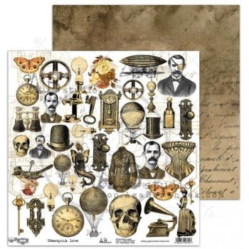 "Elements - Scrapbooking Paper 12 x 12"" -Steampunk Love"