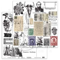 "Elements - Scrapbooking Paper 12 x 12"" - Vintage Elements (1/2)"
