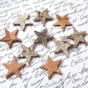Rustic Bark Stars
