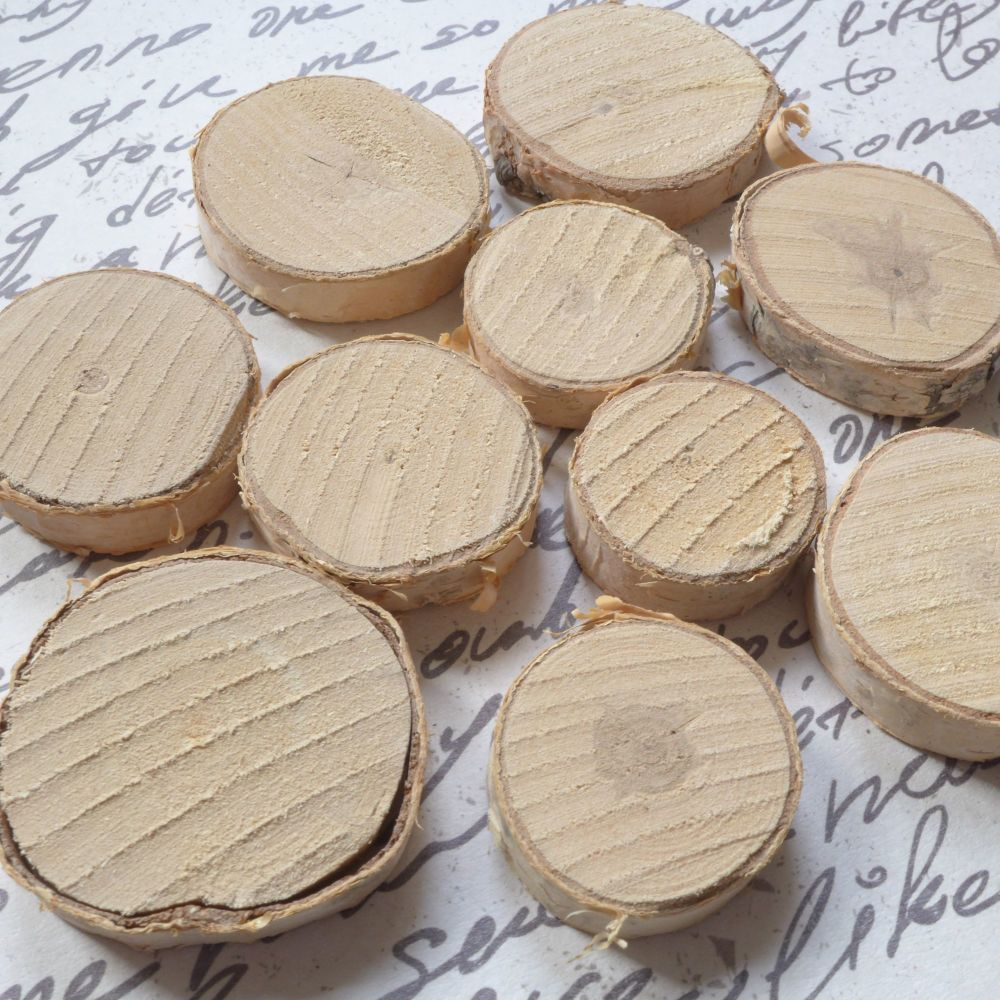 Real Mini Log Slices - 10 pieces
