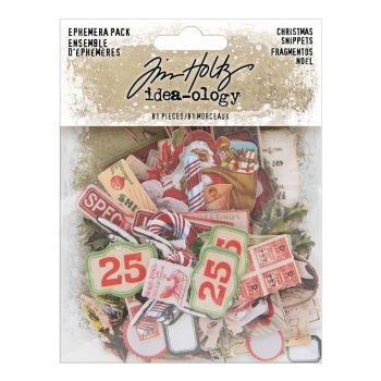Idea-ology Tim Holtz Ephemera Snippets Christmas (81pcs) (TH94009)