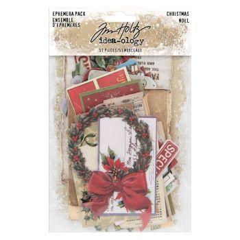 Idea-ology Tim Holtz Ephemera Pack Christmas (51pcs) (TH93989)