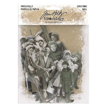 Idea-ology Tim Holtz Paper Dolls Christmas (28pcs) (TH94001)