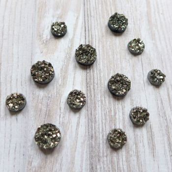 Bling - Sparkle Cabochons - Gunmetal Grey (CA3031)