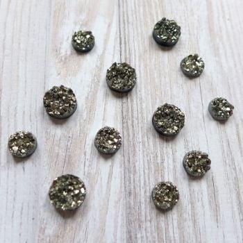 Bling - Sparkle Cabochons - Gunmetal Grey (CA3031)