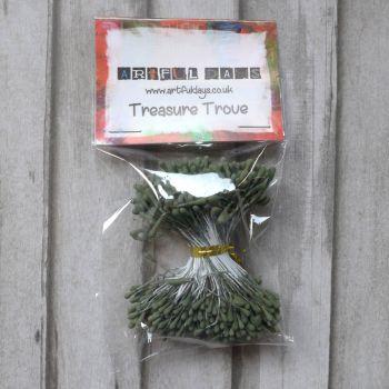 Stamens for Flower Centres - Vintage Matt Dark Green