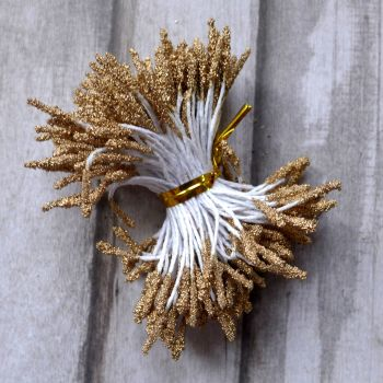 Stamens for Flower Centres - Sparkle Gold