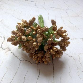 Stamen Clusters - Metallic Gold