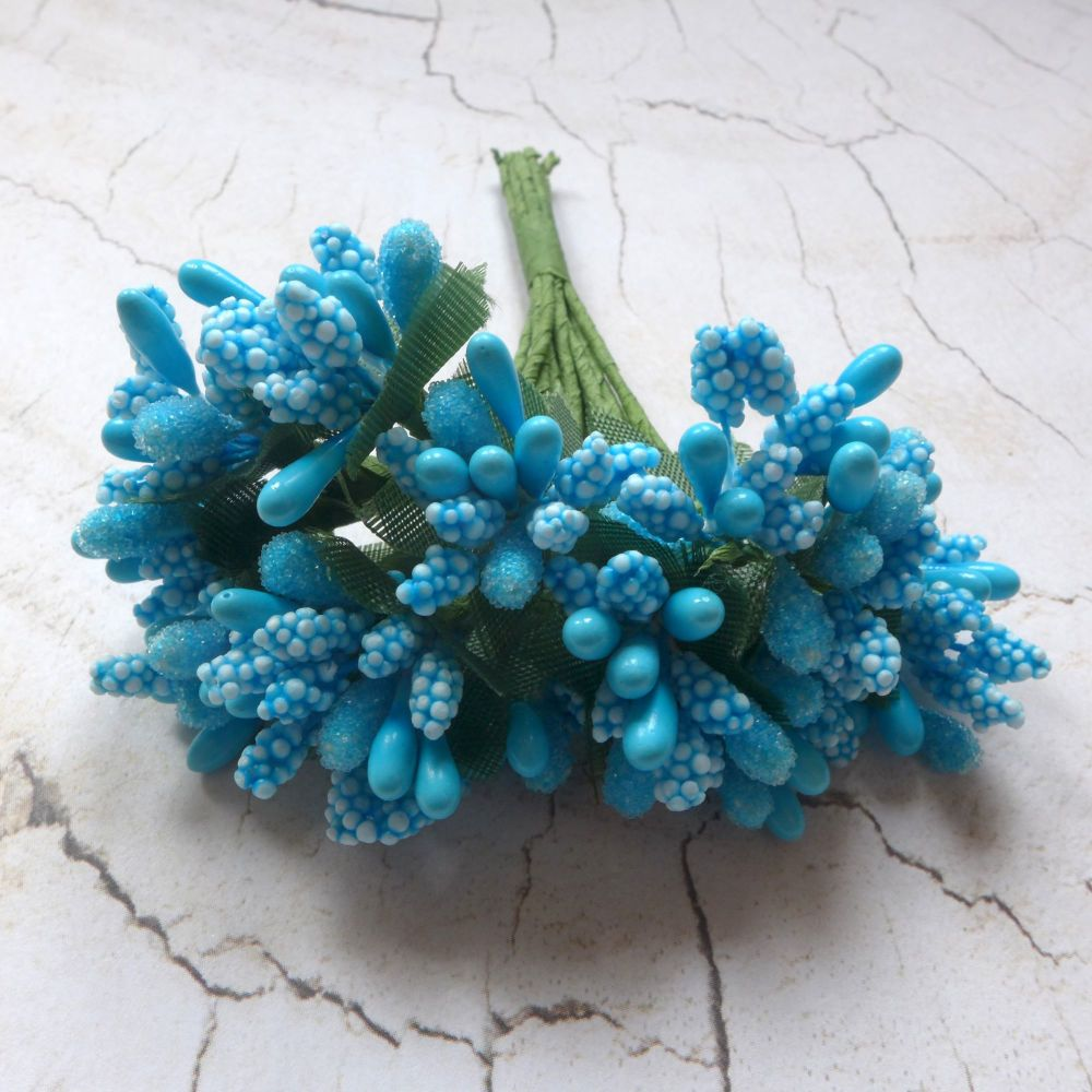 Stamen Clusters - Blue & Blue/White Mix