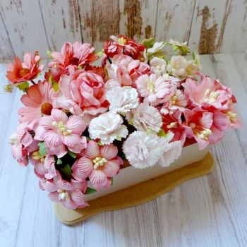 Artful Days Boxed Flowers - Colour Blend Corals
