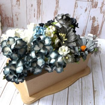 Artful Days Boxed Flowers - Colour Blend Grey/Black