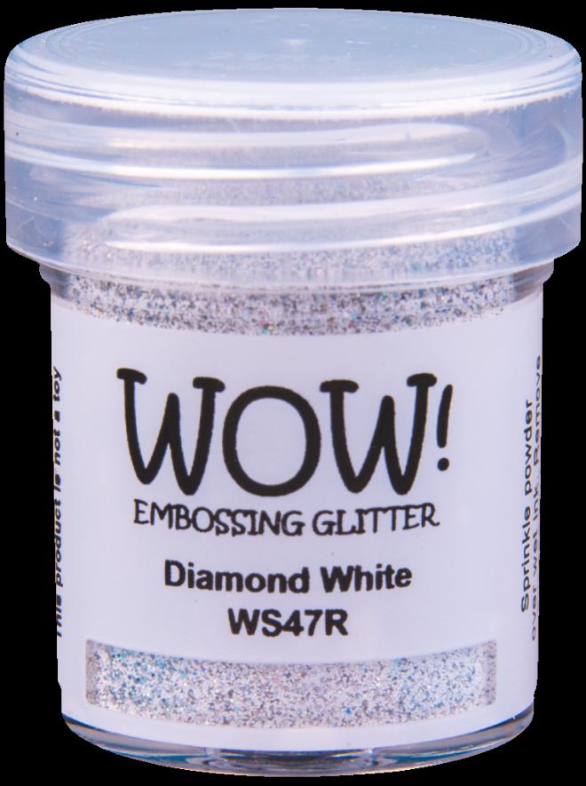 WOW Embossing Glitter - WS47 Diamond White
