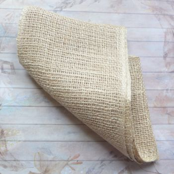 Wide Natural Hessian Fabric - 2 Metre