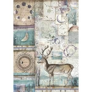 Stamperia Cosmos A4Rice Paper Cosmos Deer (DFSA4390)