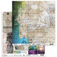 """Paradise Lost"" Scrapbooking Paper 12 x 12"" sheet 13/14 Believe in Magic"