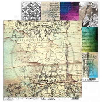 """Paradise Lost"" Scrapbooking Paper 12 x 12""- sheet 10/11 Forgotten Place"