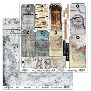 """""""Take me there"""" Scrapbooking Paper 12 x 12""""- sheet 11/12 - Easy way / Road to the stars"""