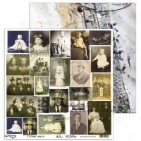 "Elements - Scrapbooking Paper 12 x 12"" - Vintage People"