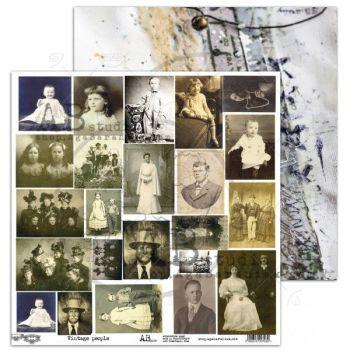 "Elements - Scrapbooking Paper 12 x 12"" - Vintage People"