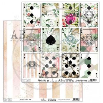 """Elements - Scrapbooking Paper 12 x 12"""" - Play With Me"""