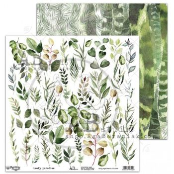 "Elements - Scrapbooking Paper 12 x 12"" - Leafy Paradise"