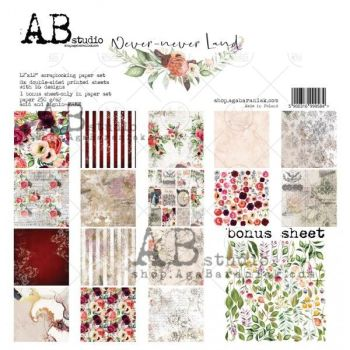 """Never-never land"" Scrapbooking Paper 12 x 12"" + 1 Bonus Sheet Set"