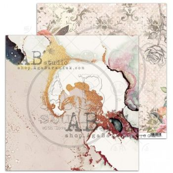"""Never-never land"" Scrapbooking Paper 12 x 12""- sheet 7 - Shine"