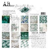 """""""Emerald Queen"""" Scrapbooking Paper 12 x 12"""" + 1 Bonus Sheet Set"""