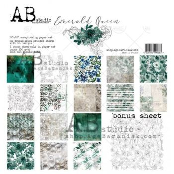 """Emerald Queen"" Scrapbooking Paper 12 x 12"" + 1 Bonus Sheet Set"