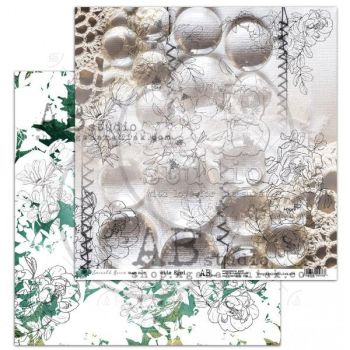 """Emerald Queen"" Scrapbooking Paper 12 x12"" sheet 8 Wide Eyed"