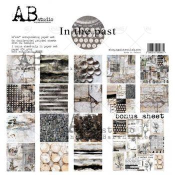 """In the past"" Scrapbooking Paper 12 x12"" + 1 Bonus Sheet Set"