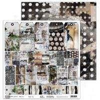 """In the past"" Scrapbooking Paper 12 x12"" sheet 3 All In"