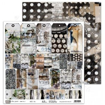 """""""In the past"""" Scrapbooking Paper 12 x12"""" sheet 3 All In"""