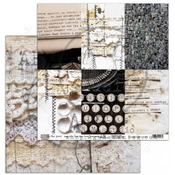 """""""In the past"""" Scrapbooking Paper 12 x12"""" sheet 5 The Way From The Past"""