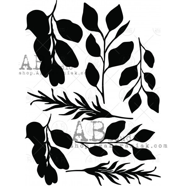 Mixed Media Thick Chipboard ID-105 Leaves