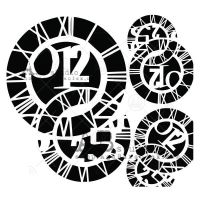 Stencil ID-214 clocks