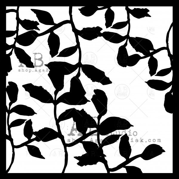 Stencil ID-208 leaves