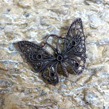 Copper Butterfly Charm (C141)