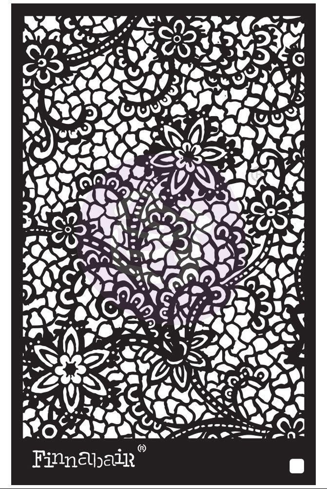 Finnabair Stencil - Floral Net