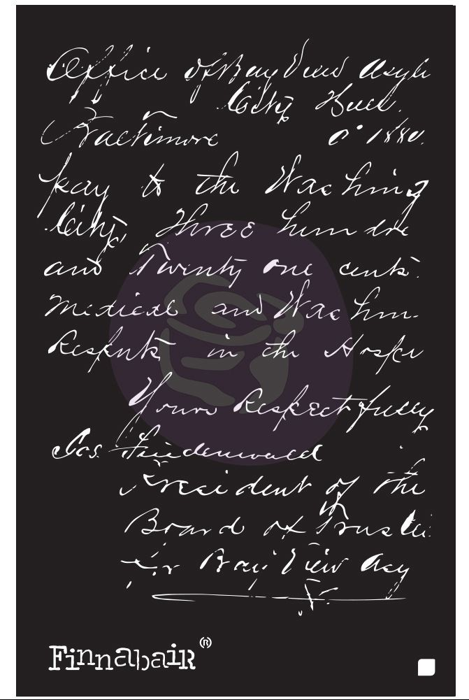 Finnabair Stencil - Read My Letter