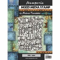 Stamperia Sea World - Mixed Media Stamp - Piping (WTKAT10)