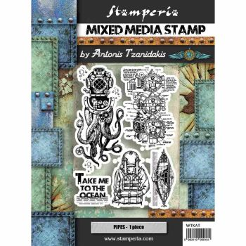Stamperia Sea World - Mixed Media Stamp - Octopus (WTKAT12)
