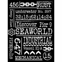 Stamperia Sea World Thick Stencil 15x20cm Writings (KSAT11)
