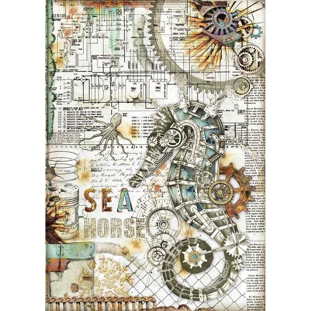 Stamperia Sea World Rice Paper A4 Seahorse (DFSA4431)