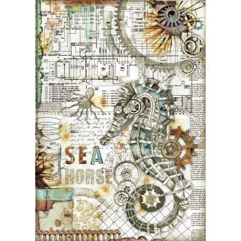 Stamperia Sea World Rice Paper A4 Seahorse (DFSA4431)