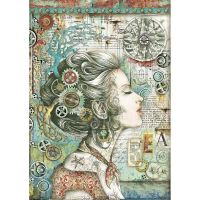 Stamperia Sea World Rice Paper A4 Lady with Compass (DFSA4430)