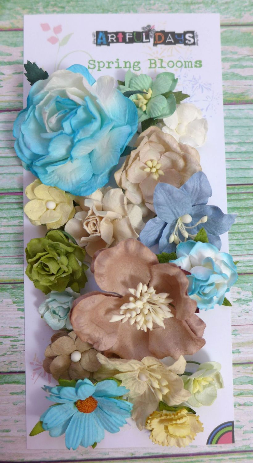 Spring Blooms - Mulberry Paper Flowers - Spring Breeze