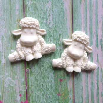 White Resin Spring Lambs (R7030)
